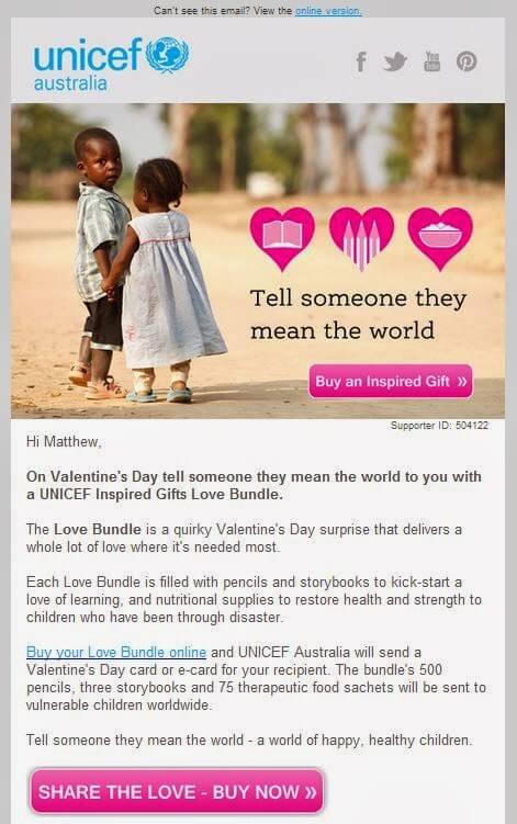 Unicef Valentines Day Edm