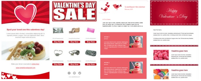 Valentines Day Email Marketing Templates