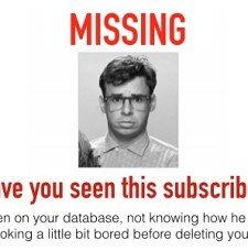 missing subscriber